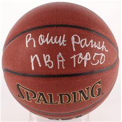 "Robert Parish Signed Basketball Inscribed ""NBA Top 50"" (Schwartz COA)"