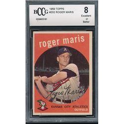 1959 Topps #202 Roger Maris (BCCG 8)
