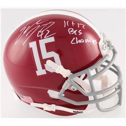 "Eddie Lacy Signed Alabama Mini-Helmet Inscribed ""11  12 BSC Champs"" (Radtke COA)"