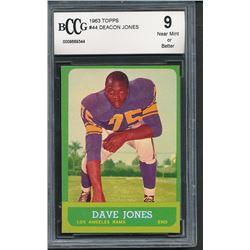 1963 Topps #44 Deacon Jones RC (BCCG 9)