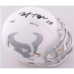 DeAndre Hopkins Signed Texans Custom Matte White ICE Mini Helmet (JSA COA)