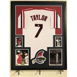 "Tom Berenger Signed ""Major League"" 34x42 Custom Framed Jersey (JSA Hologram)"