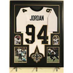 Cameron Jordan Signed Saints 34x42 Custom Framed Jersey (JSA COA)