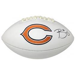 Trey Burton Signed Bears Logo Football (JSA COA)