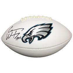 "Carson Wentz Signed Eagles Logo Football Inscribed ""AO1"" (Fanatics)"
