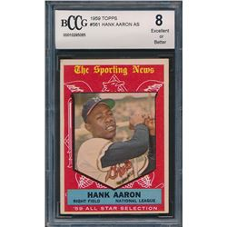 1959 Topps #561 Hank Aaron All Star (BCCG 8)