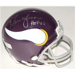 "Warren Moon Signed Vikings Mini Throwback Helmet Inscribed ""HOF 06"" (Radtke COA  Moon Hologram)"