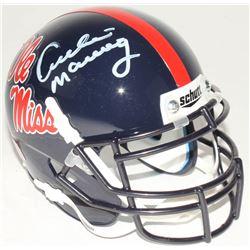 "Archie Manning Signed Ole Miss Rebels Mini-Helmet Inscribed ""CHOF 2016"" (Radtke COA)"