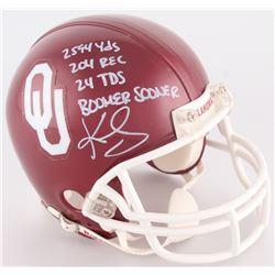 Kenny Stills Signed Oklahoma Sooners Mini Helmet with (4) Inscriptions (Radtke COA)