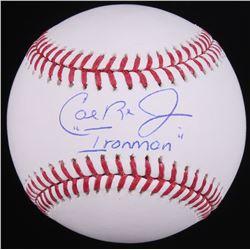 """Cal Ripken Jr. Signed OML Baseball Inscribed """"Ironman"""" (Radtke Hologram)"""