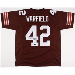 "Paul Warfield Signed Browns Jersey Inscribed ""HOF 83"" (Radtke COA)"