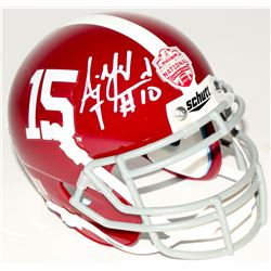 A.J. McCarron Signed Alabama Crimson Tide 2012 National Champions Mini-Helmet (Radtke Hologram)