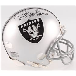 "Tim Brown Signed Raiders Mini-Helmet Inscribed ""HOF 15"" (Radtke COA)"