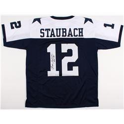 "Roger Staubach Signed Cowboys Thanksgiving Jersey Inscribed ""HOF '85"" (JSA COA)"