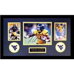 Tavon Austin Signed West Virginia Mountaineers 16x26 Custom Framed Photo Display (Radtke COA)