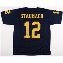 "Roger Staubach Signed Navy Jersey Inscribed ""Heisman '63"" (JSA COA)"