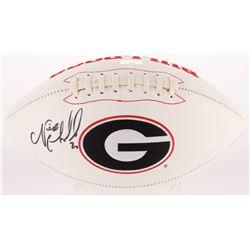 Nick Chubb Signed Georgia Bulldogs Logo Football (Radtke Hologram)