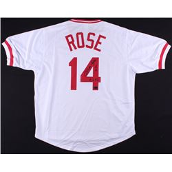 "Pete Rose Signed Reds Jersey Inscribed ""4256"" (Radtke COA)"