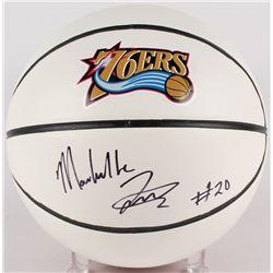 Markelle Fultz Signed 76ers Logo Basketball (PSA COA)