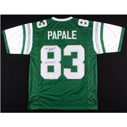 "Vince Papale Signed Eagles Jersey Inscribed ""Invincible"" (JSA COA)"