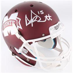 Dak Prescott Signed Mississippi State Bulldogs Full-Size Helmet (JSA COA  Radtke COA)