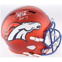 "Terrell Davis Signed Broncos Full-Size Blaze Speed Helmet Inscribed ""HOF 17' (JSA COA)"