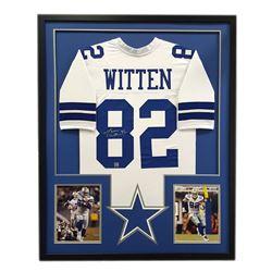 Jason Witten Signed Cowboys 34x42 Custom Framed Jersey (Witten Hologram)
