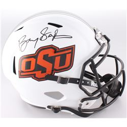 Barry Sanders Signed OSU Full-Size Speed Helmet (Radtke COA  Schwartz Hologram)