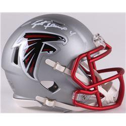 Brett Favre Signed Falcons Mini Blaze Speed Helmet (Radtke COA)
