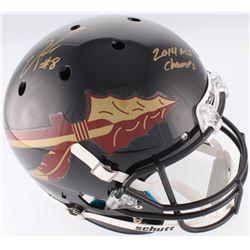 "Devonta Freeman Signed Florida State Seminoles Full-Size Helmet Inscribed ""2014 BCS Champs"" (Radtke"