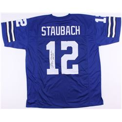 "Roger Staubach Signed Cowboys Jersey Inscribed ""HOF '85"" (JSA Hologram)"