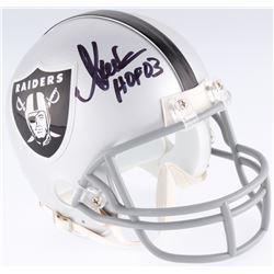 """Marcus Allen Signed Raiders Mini-Helmet Inscribed """"HOF 03"""" (JSA COA)"""