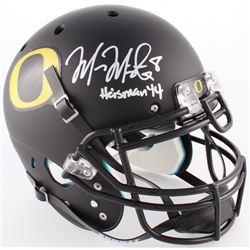 Marcus Mariota Signed Oregon Ducks Custom Matte Black Full-Size Authentic On-Field Helmet Inscribed