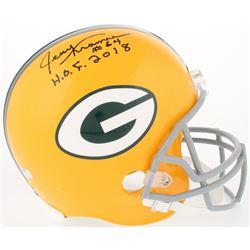 """Jerry Kramer Signed Packers Full-Size Helmet Inscribed """"H.O.F. 2018"""" (Radtke COA)"""