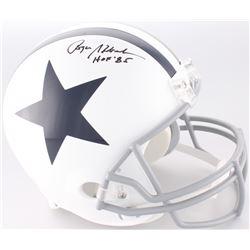 "Roger Staubach Signed Cowboys Throwback Full-Size Helmet Inscribed ""HOF '85"" (JSA COA)"