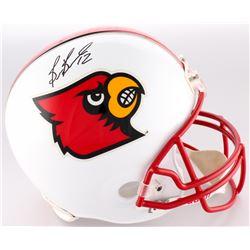 Brian Brohm Signed Louisville Cardinals Full-Size Helmet (JSA Hologram)