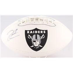 Derek Carr Signed Raiders Logo Football (Radtke Hologram  NSD Hologram)
