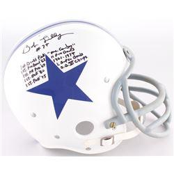 Bob Lilly Signed Cowboys TK Suspension Full-Size Helmet With Extensive Inscription (JSA COA)