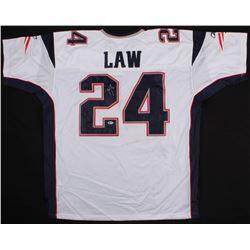 Ty Law Signed Patriots Jersey (Beckett COA)