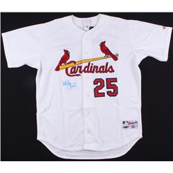 """Mark McGwire Signed Cardinals Jersey Inscribed """"583 HRS"""" (Steiner COA)"""