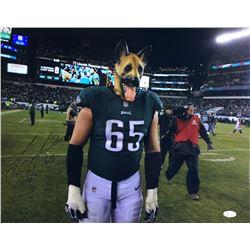 """Lane Johnson Signed Eagles """"Underdog"""" 16x20 Photo (JSA COA)"""