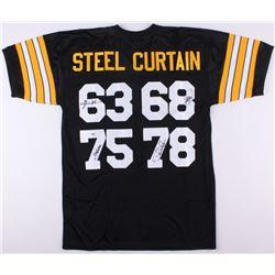 "Steelers ""Steel Curtain"" Jersey Signed by (4) with Joe Greene, Dwight White, Ernie Holmes (PSA COA)"