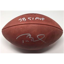 """Tom Brady Signed Super Bowl 51 Limited Edition """"The Duke"""" NFL Official Game Ball Inscribed """"SB 51 MV"""