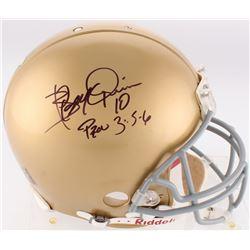 Brady Quinn Signed Notre Dame Fighting Irish Authentic On-Field Full Size Helmet (JSA COA)