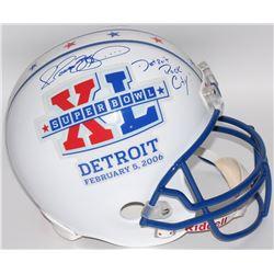 "Jerome Bettis Signed Super Bowl XL Full-Size Helmet Inscribed ""Detroit Rock City!"" (JSA Hologram  Be"