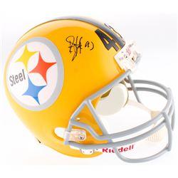 Troy Polamalu Signed Steelers Full-Size Helmet (JSA COA  Mounted Memories Hologram)