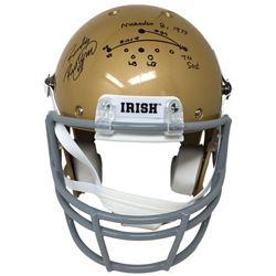 Rudy Ruettiger Signed Notre Dame Fighting Irish Schutt Full-Size Helmet with Hand-Drawn Play (JSA CO
