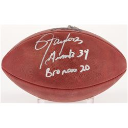 "Lawrence Taylor Signed Super Bowl XXI NFL Football Inscribed ""Giants 39 Broncos 20"" (JSA COA)"