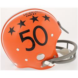 "Dick Butkus Signed Illinois Fighting Illini Full-Size RK Suspension Helmet Inscribed ""CHOF 83"" (Radt"
