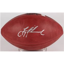 Troy Aikman Signed Super Bowl XXVIII Logo Football (Aikman Hologram)